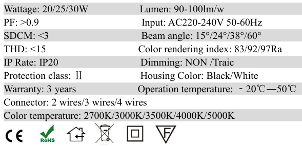 LED Track Lighting for commercial and residential uses